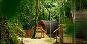 Glamping pods at Adventure Parc Snowdonia